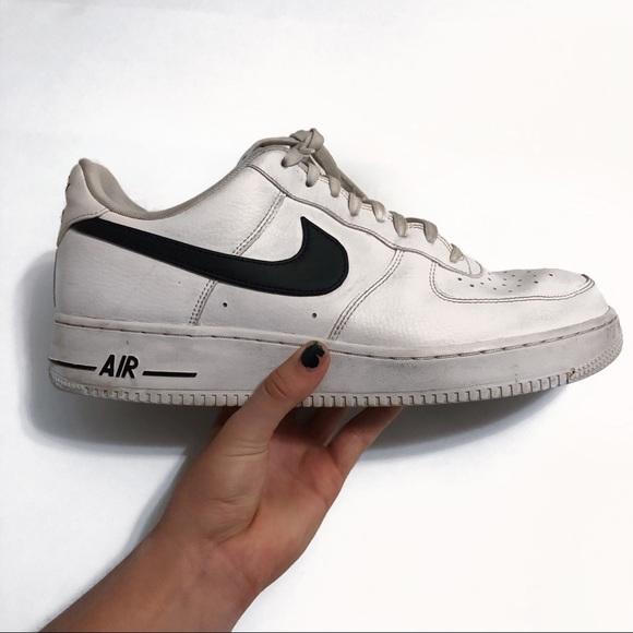 White Nike Air Force 1's.